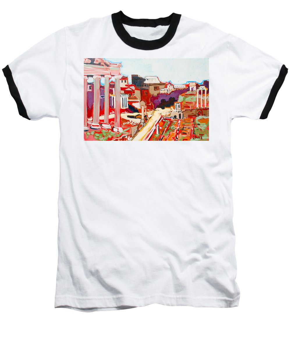 Rome Baseball T-Shirt featuring the painting Il Foro Romano by Kurt Hausmann