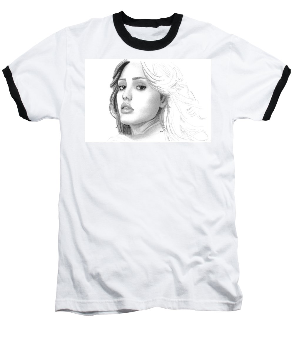Jessica Alba Baseball T-Shirts