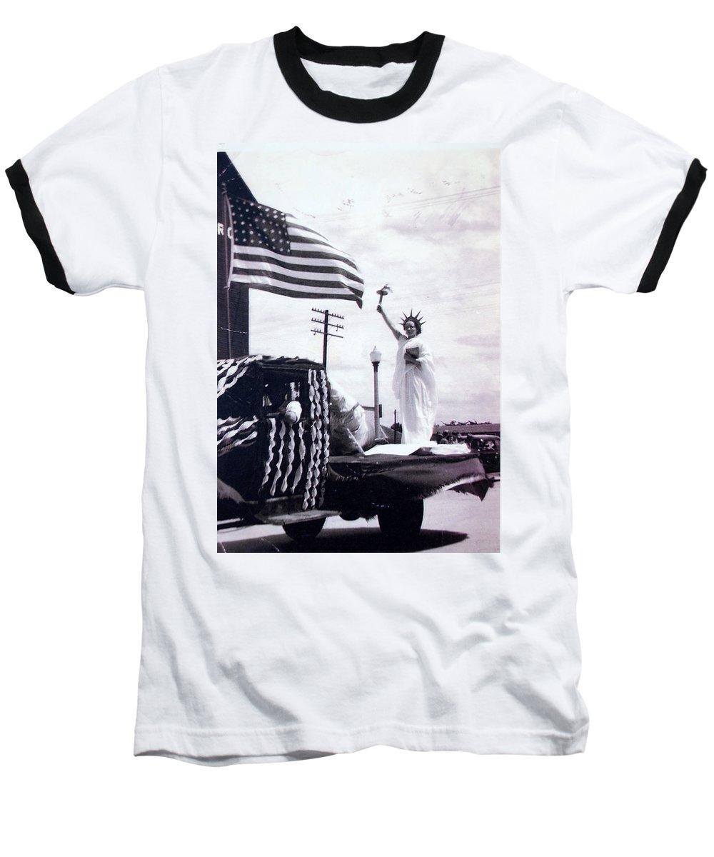 4th Of July Baseball T-Shirt featuring the photograph Lady Liberty by Kurt Hausmann