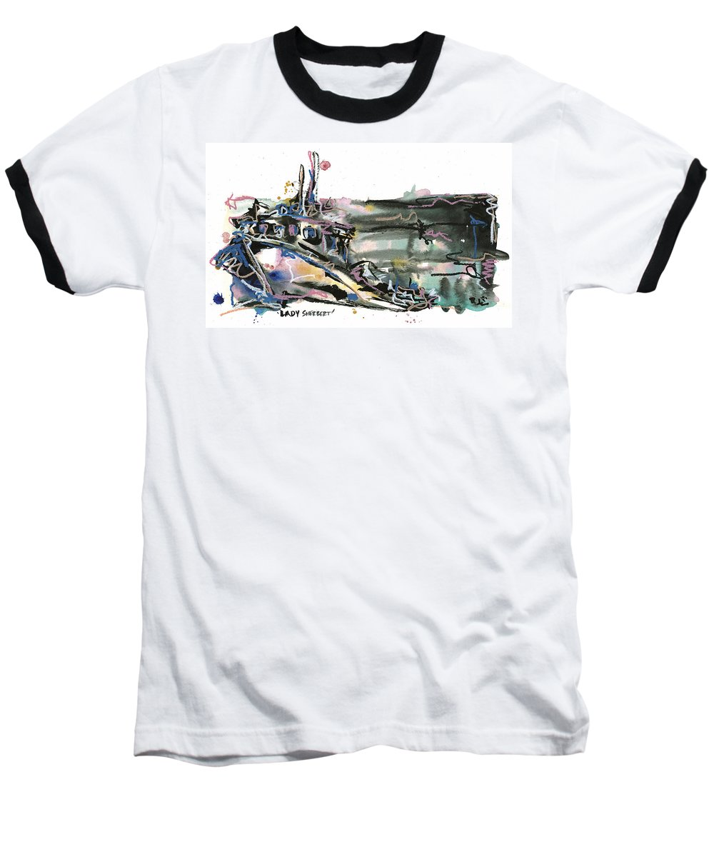 Seascape Baseball T-Shirt featuring the painting Lady Sherbert by Robert Joyner