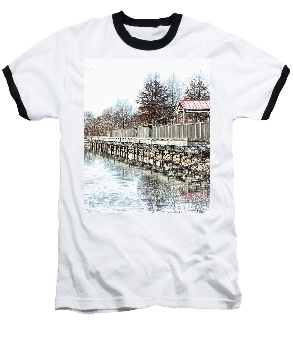 Lakes Baseball T-Shirt featuring the photograph Lake by Amanda Barcon