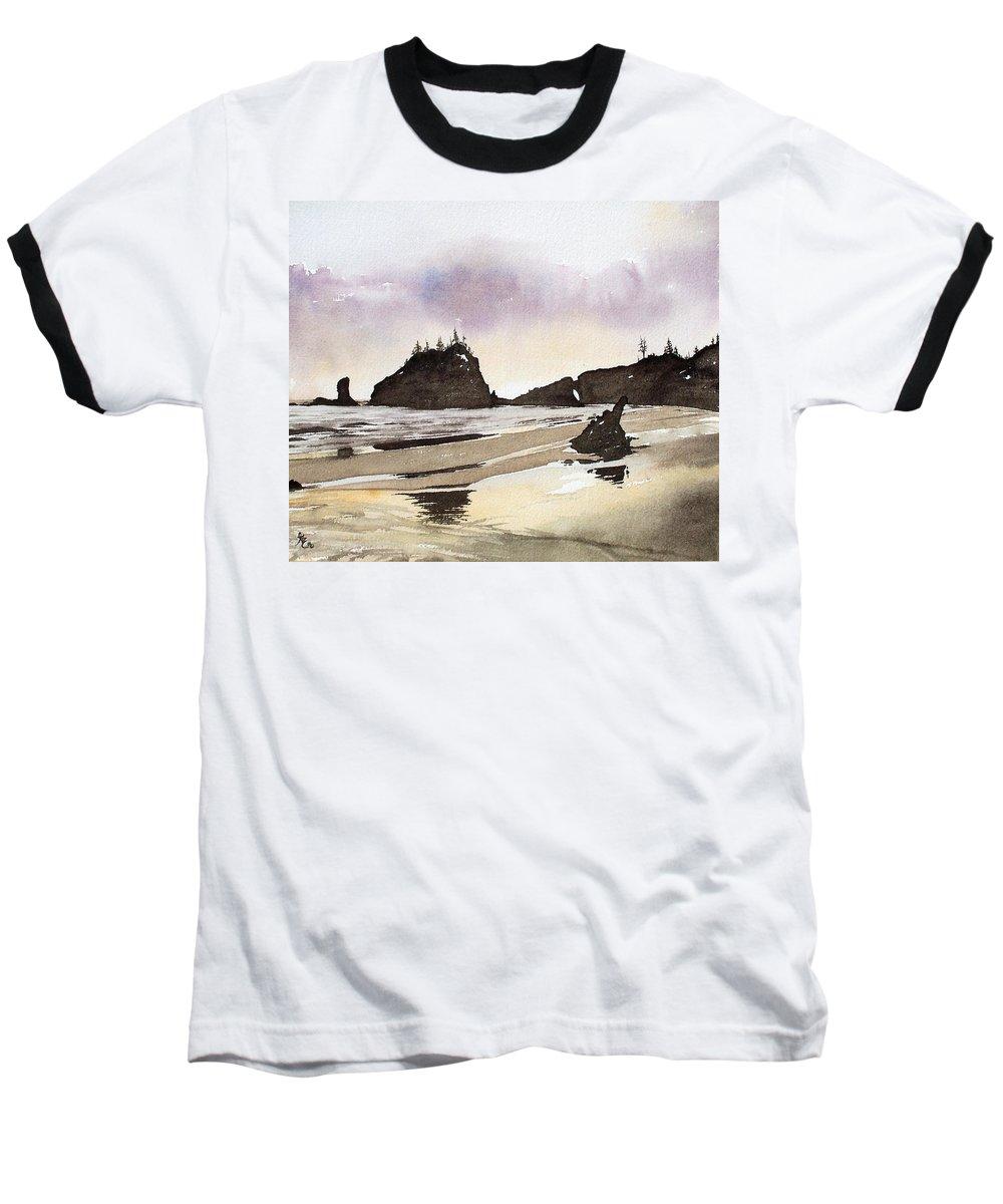 Washington Baseball T-Shirt featuring the painting Lapush by Gale Cochran-Smith