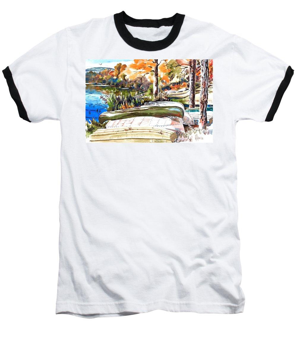 Last Summer In Brigadoon Baseball T-Shirt featuring the painting Last Summer In Brigadoon by Kip DeVore