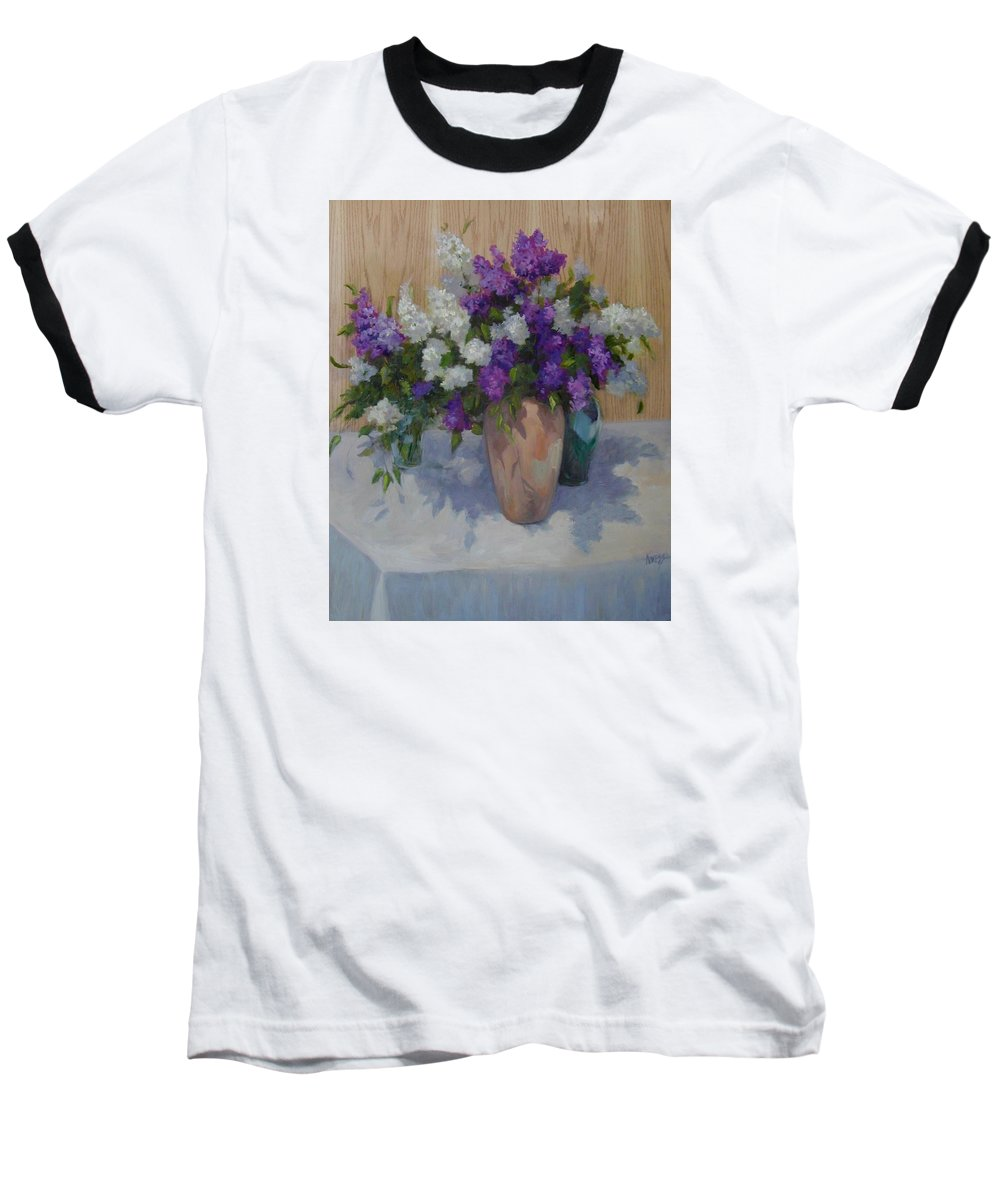 Lilacs Baseball T-Shirt featuring the painting Lilacs by Patricia Kness