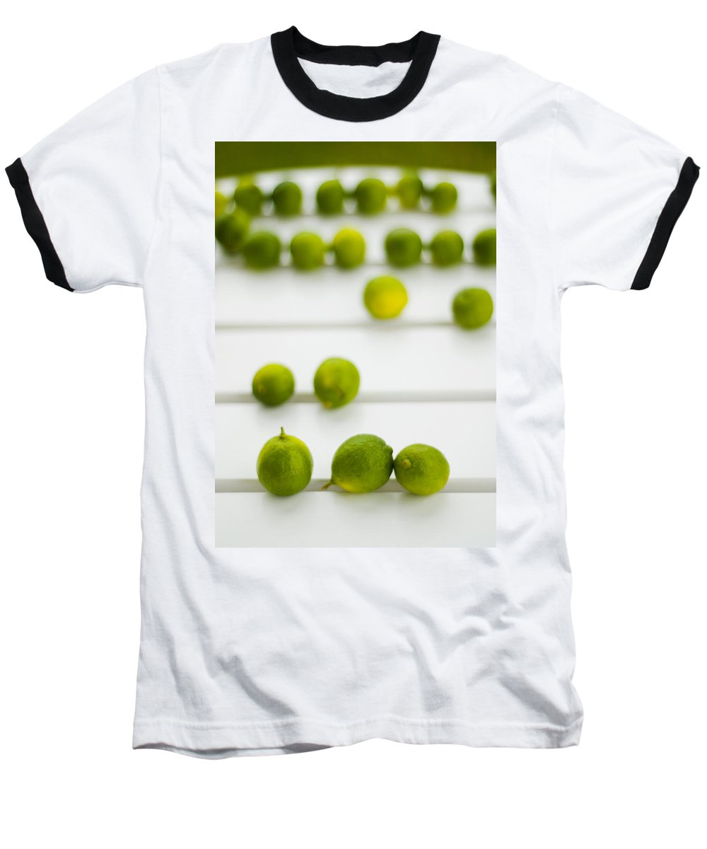 Green Baseball T-Shirt featuring the photograph Lime Green by Skip Hunt