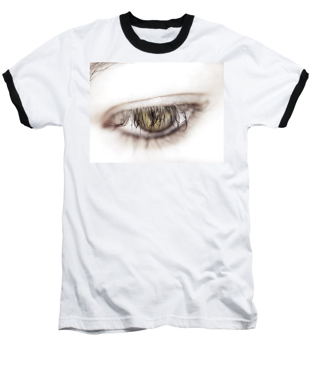 Eye Baseball T-Shirt featuring the photograph Look Away by Kelly Jade King