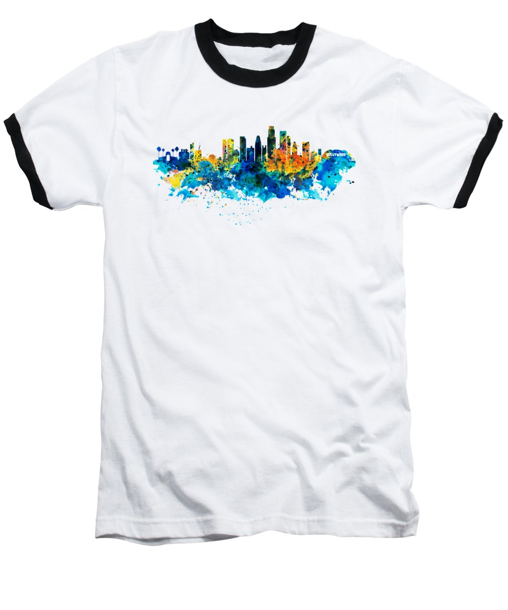 Los Angeles Skyline Baseball T-Shirts