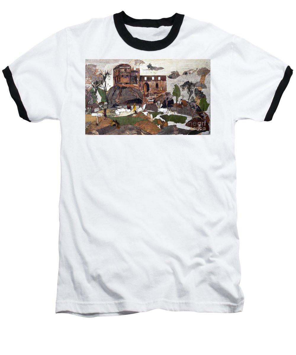 Palace Made By King Madan Shah Baseball T-Shirt featuring the mixed media Madan Mahal by Basant Soni