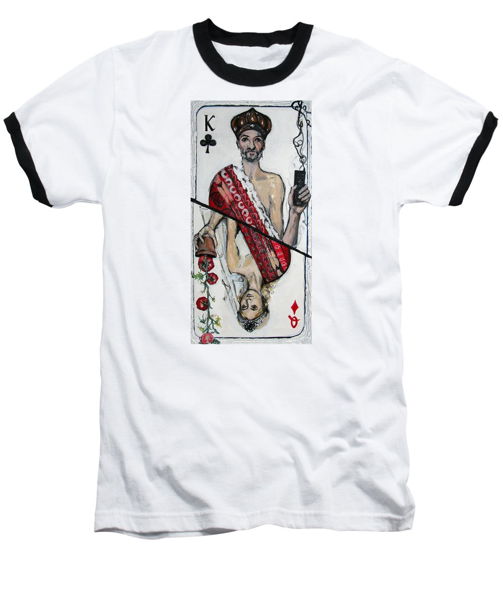 Marriage Baseball T-Shirt featuring the painting Marriage by Mima Stajkovic