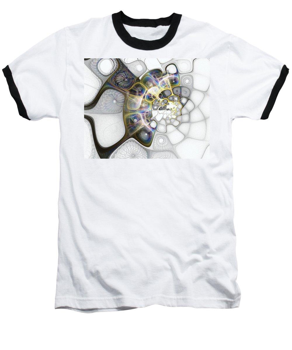 Digital Art Baseball T-Shirt featuring the digital art Memories II by Amanda Moore