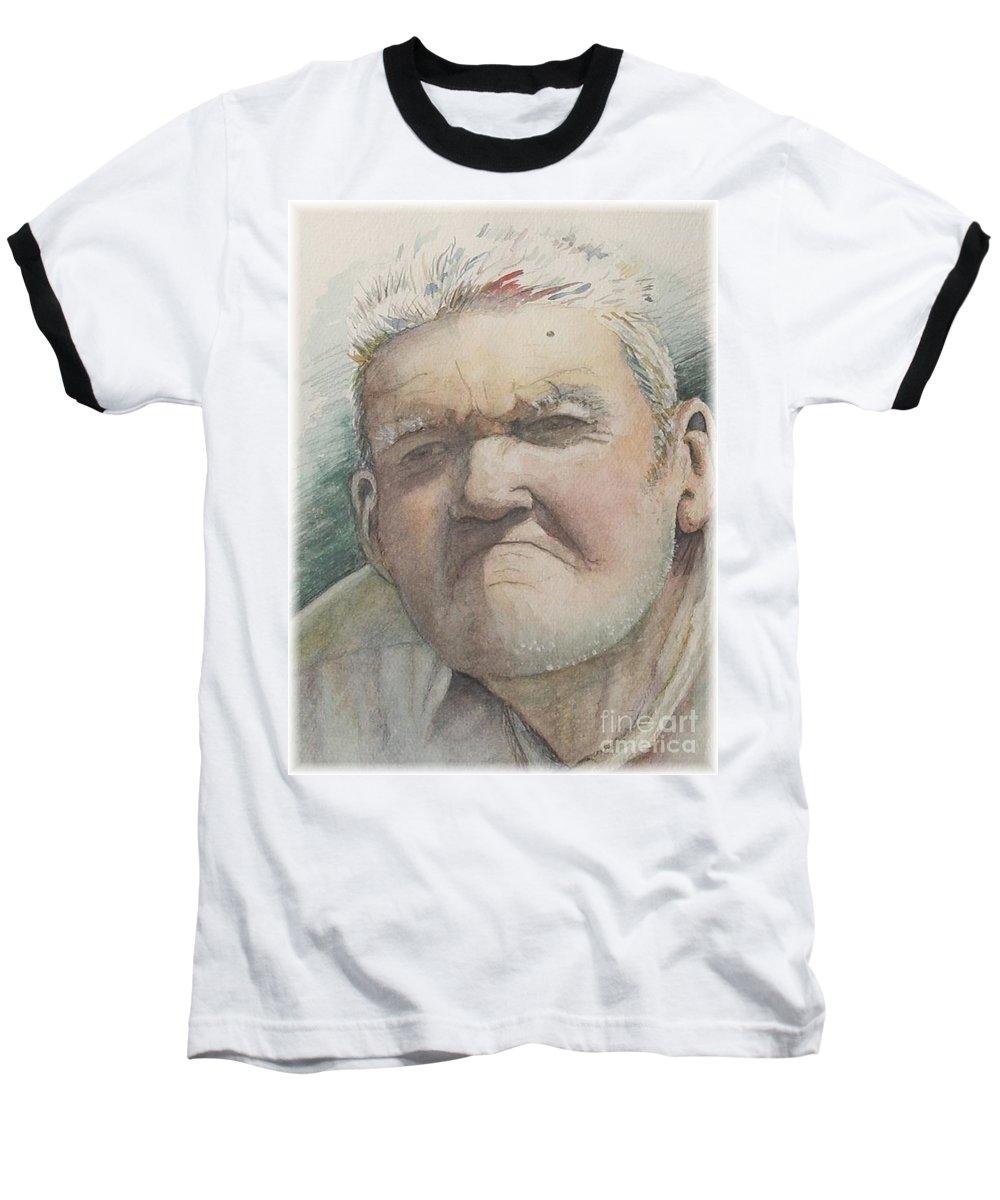 Portrait Baseball T-Shirt featuring the painting Minnesota Farmer by Nadine Rippelmeyer