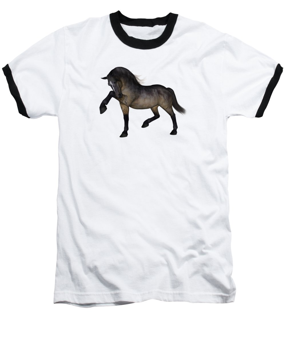 Horse Baseball T-Shirt featuring the digital art Mischief by Betsy Knapp