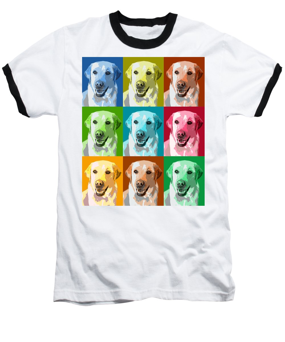 Americana Baseball T-Shirt featuring the photograph Golden Retriever Warhol by Marilyn Hunt