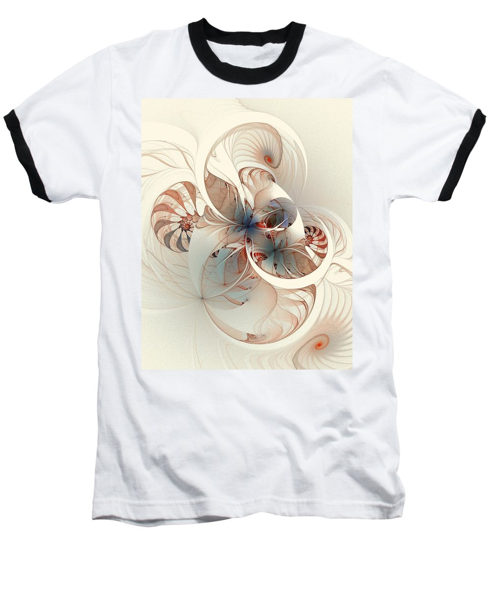 Baseball T-Shirt featuring the digital art Mollusca by Amanda Moore