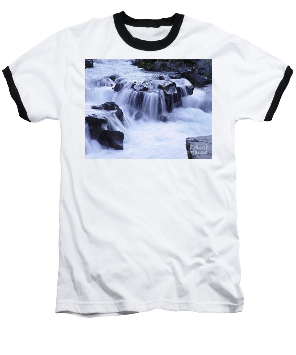 Waterfall Baseball T-Shirt featuring the photograph Natural Bridges Falls 01 by Peter Piatt