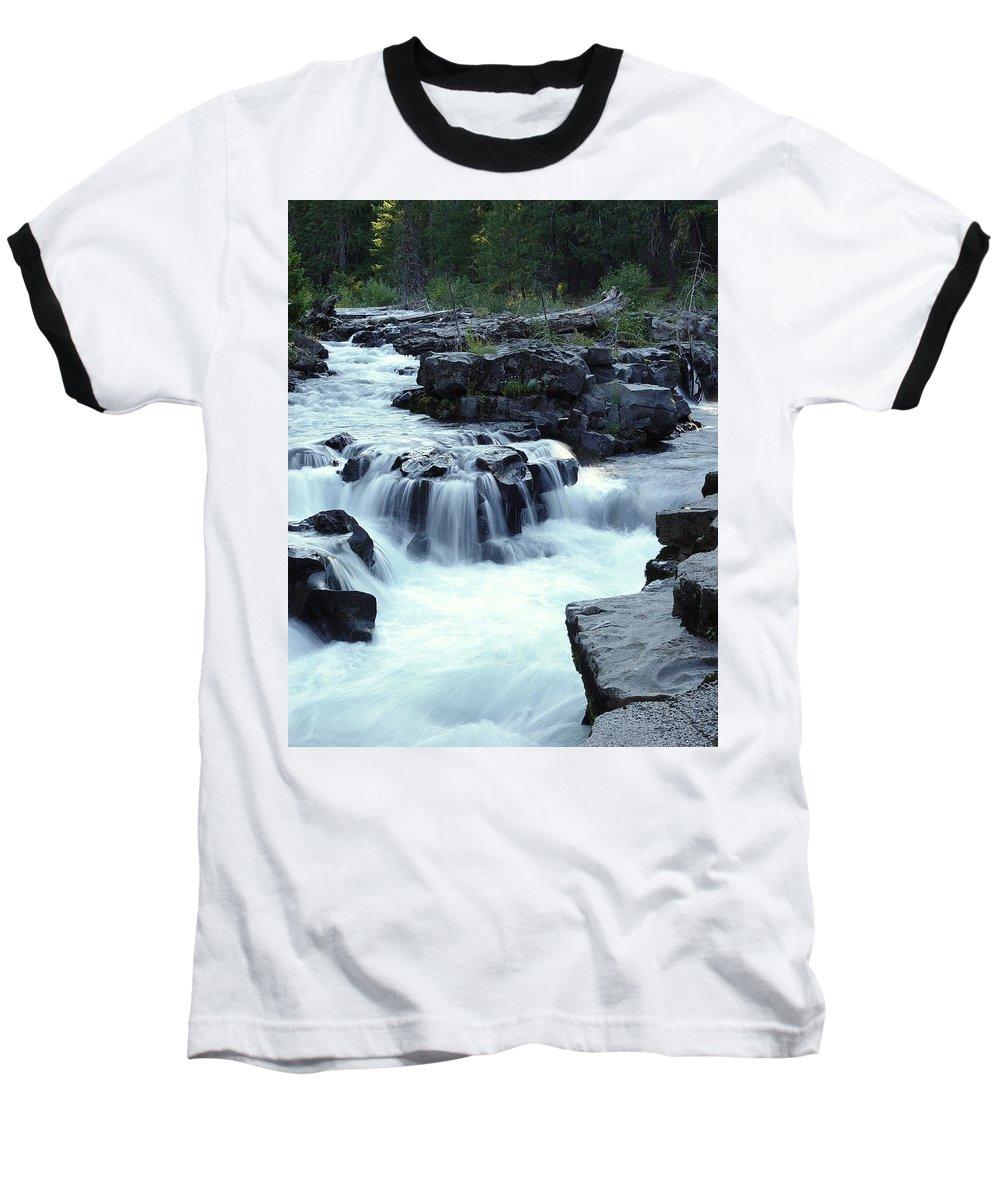 Waterfall Baseball T-Shirt featuring the photograph Natural Bridges Falls 03 by Peter Piatt