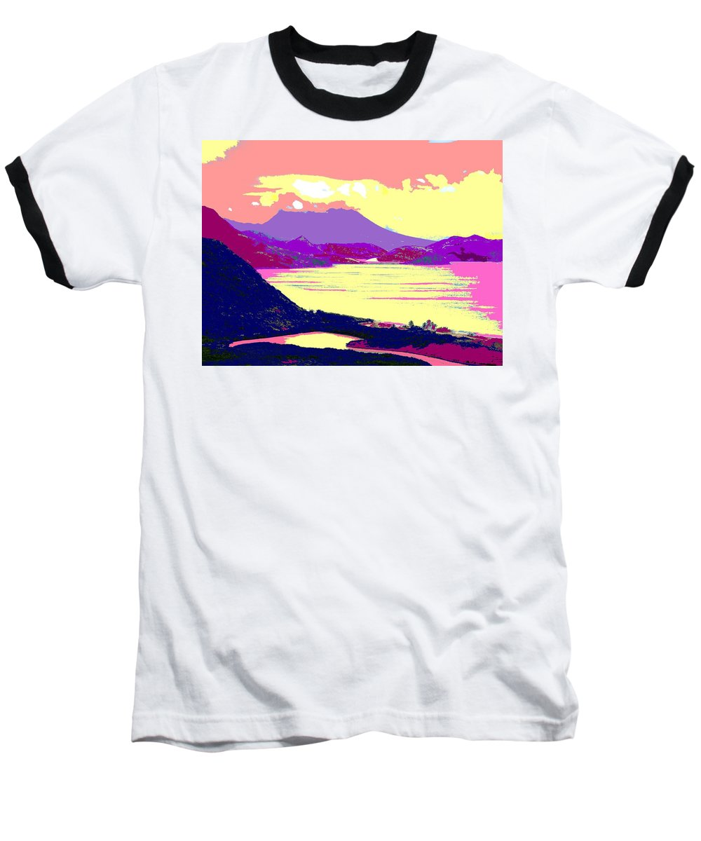 Nevis Baseball T-Shirt featuring the photograph Nevis From The Penninsula by Ian MacDonald