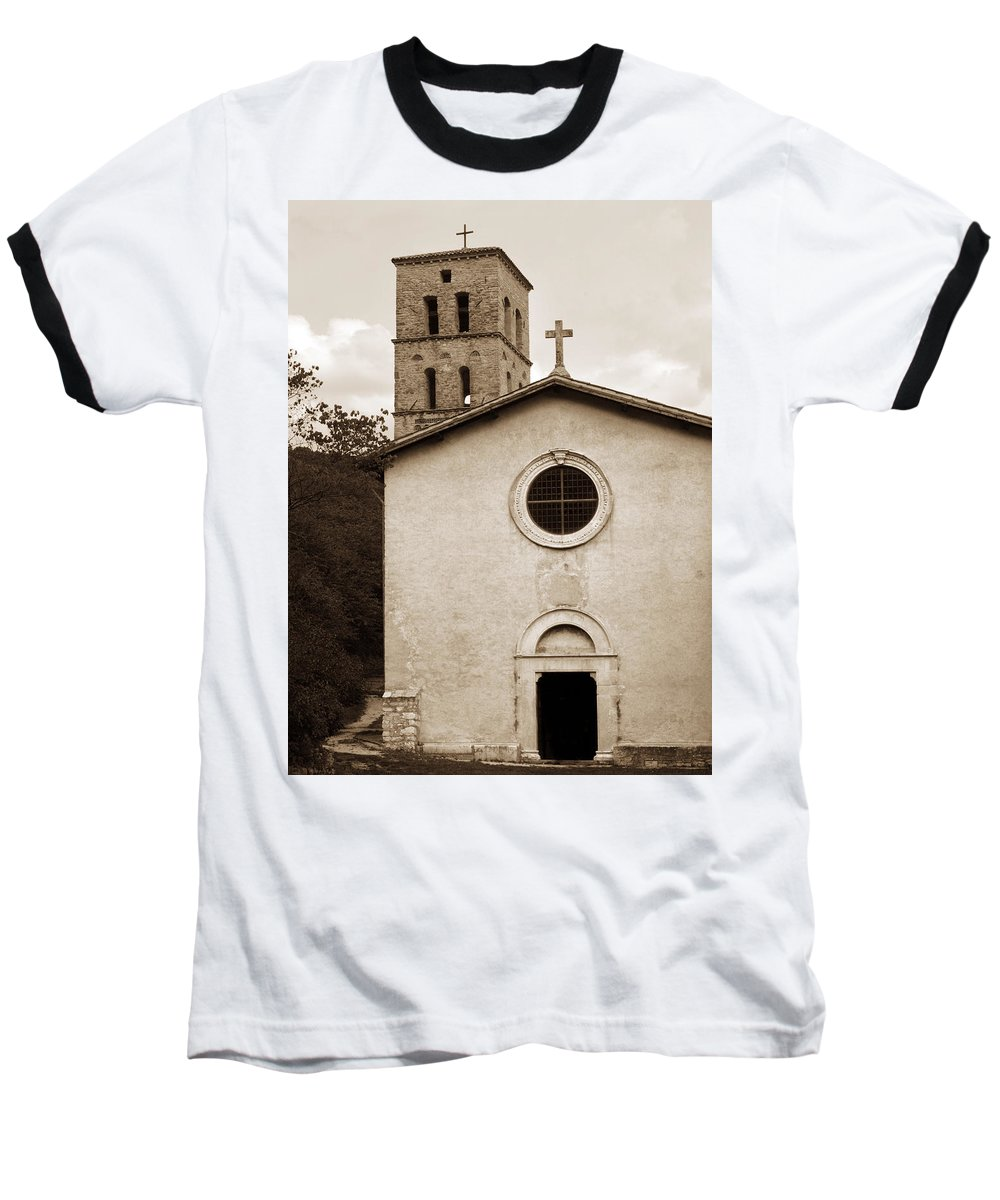 Curch Baseball T-Shirt featuring the photograph Nice Old Church For Wedding by Marilyn Hunt