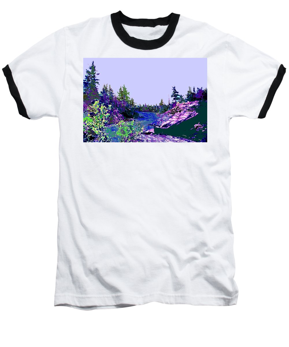 Norlthern Baseball T-Shirt featuring the photograph Northern Ontario River by Ian MacDonald