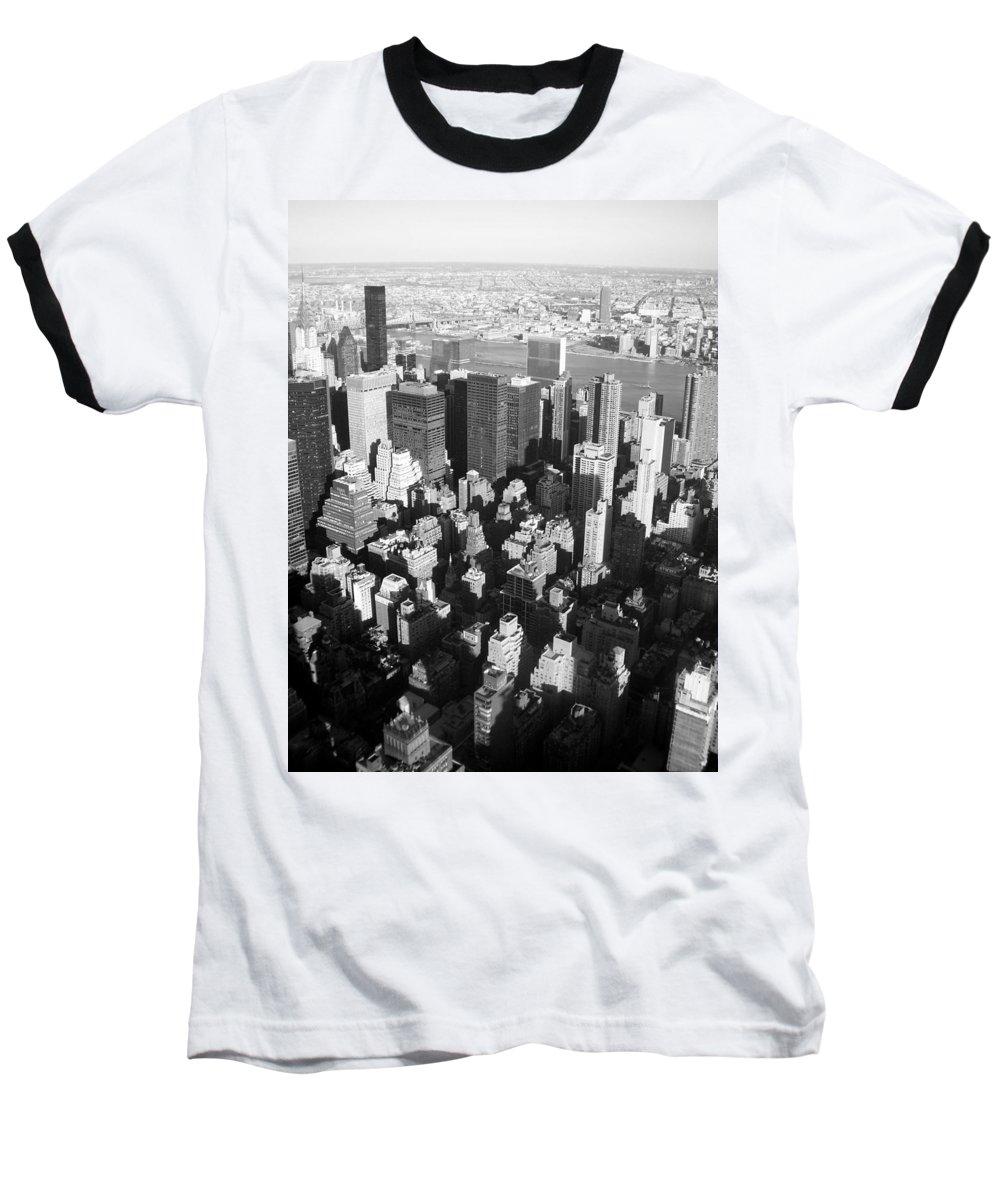 Nyc Baseball T-Shirt featuring the photograph Nyc Bw by Anita Burgermeister