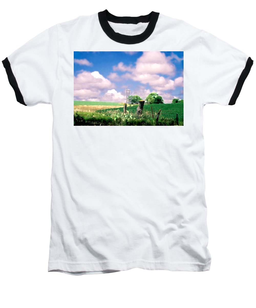 Landscape Baseball T-Shirt featuring the photograph Off The Grid by Steve Karol