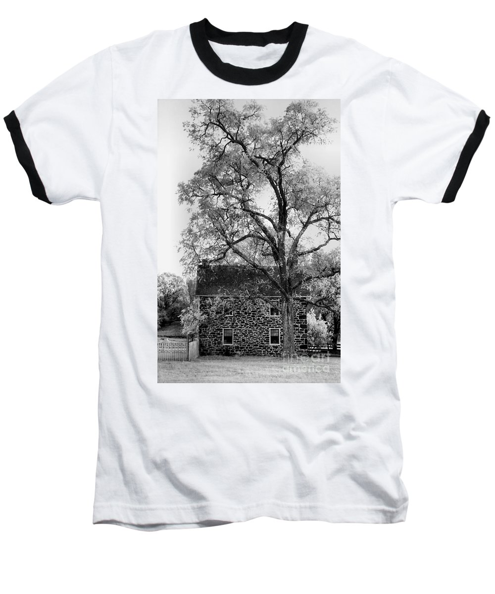 Homes Baseball T-Shirt featuring the photograph Old Stone House by Richard Rizzo