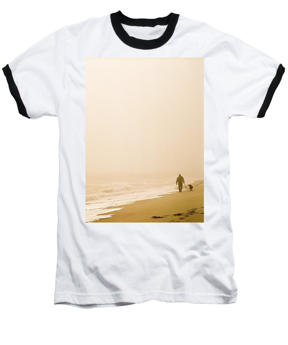 Landscape Baseball T-Shirt featuring the photograph Out Of The Mist by Steve Karol