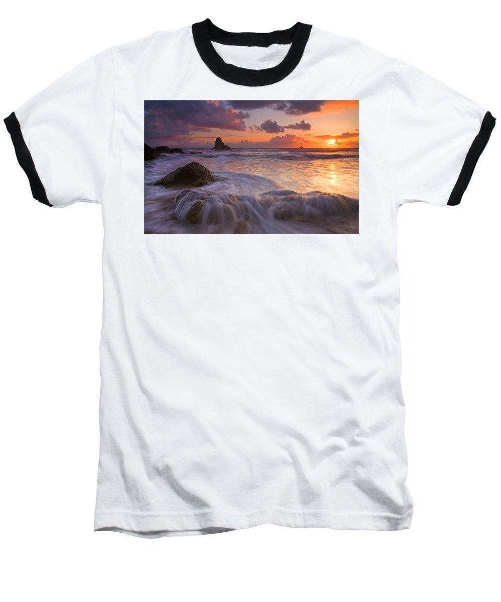 Sunset Baseball T-Shirt featuring the photograph Overcome by Mike Dawson