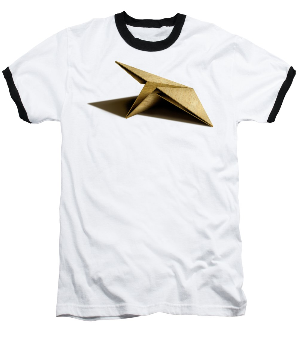 Paper Airplane Baseball T-Shirt featuring the photograph Paper Airplanes Of Wood 7 by YoPedro