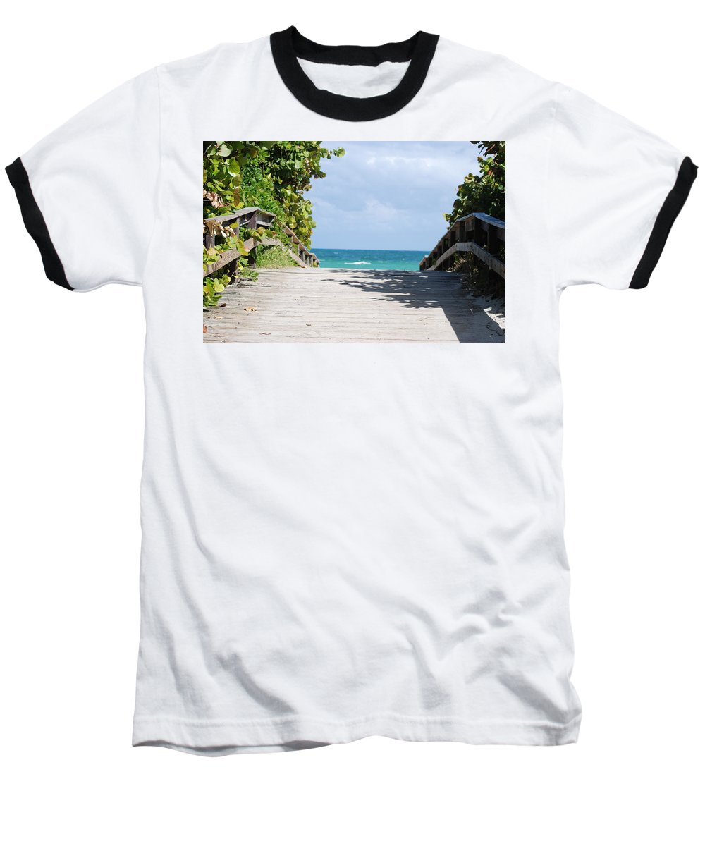 Sea Scape Baseball T-Shirt featuring the photograph Path To Paradise by Rob Hans