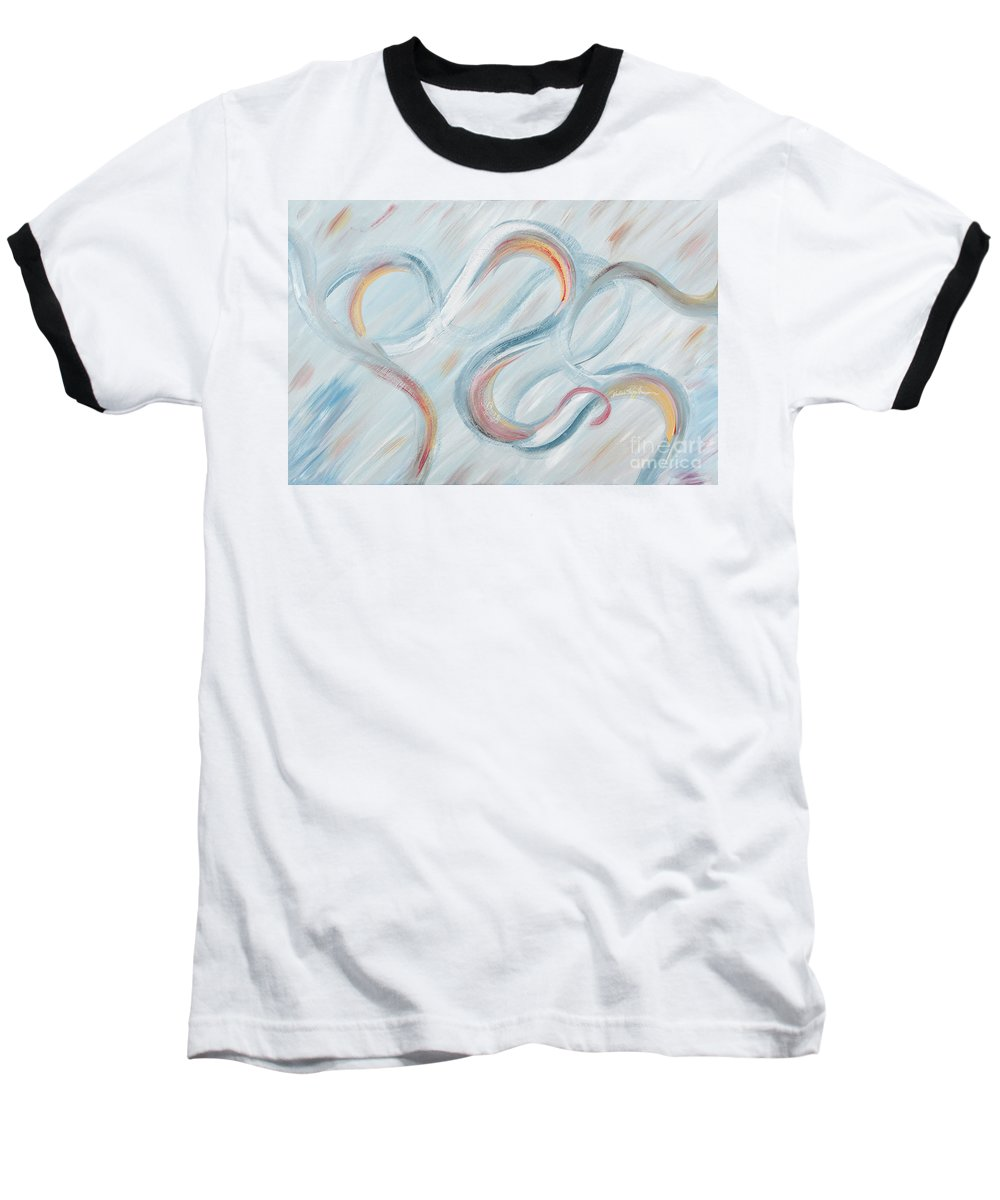 Peace Baseball T-Shirt featuring the painting Peace by Nadine Rippelmeyer