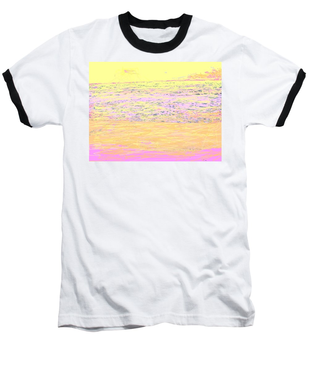 Seascape Baseball T-Shirt featuring the photograph Pineapple Sunset by Ian MacDonald
