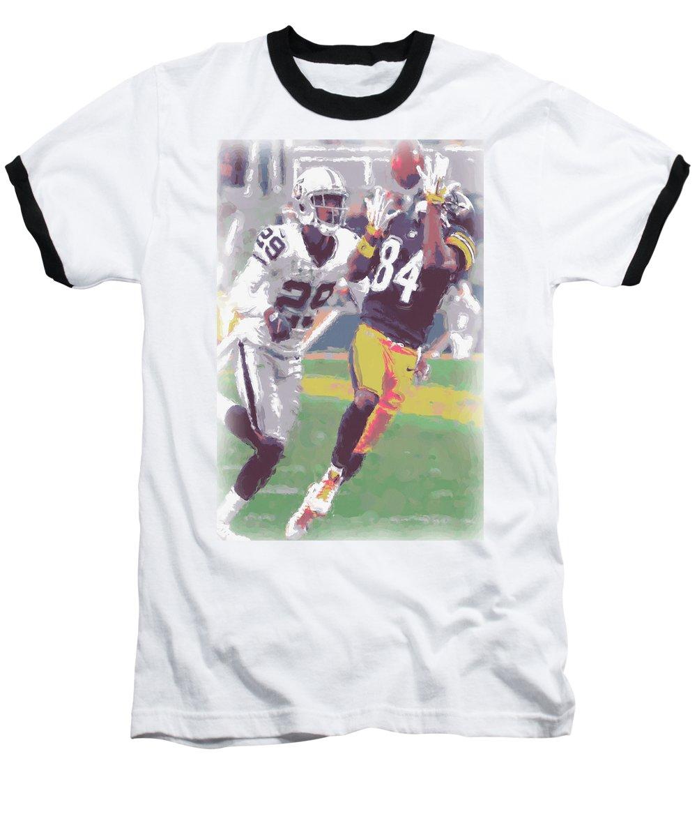 premium selection 73b39 64392 Pittsburgh Steelers Antonio Brown 1 Baseball T-Shirt