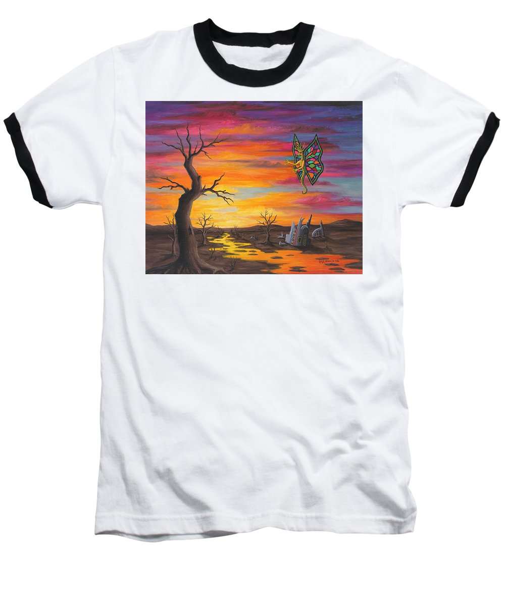 Fantasy Baseball T-Shirt featuring the painting Planet Px7 by Roz Eve