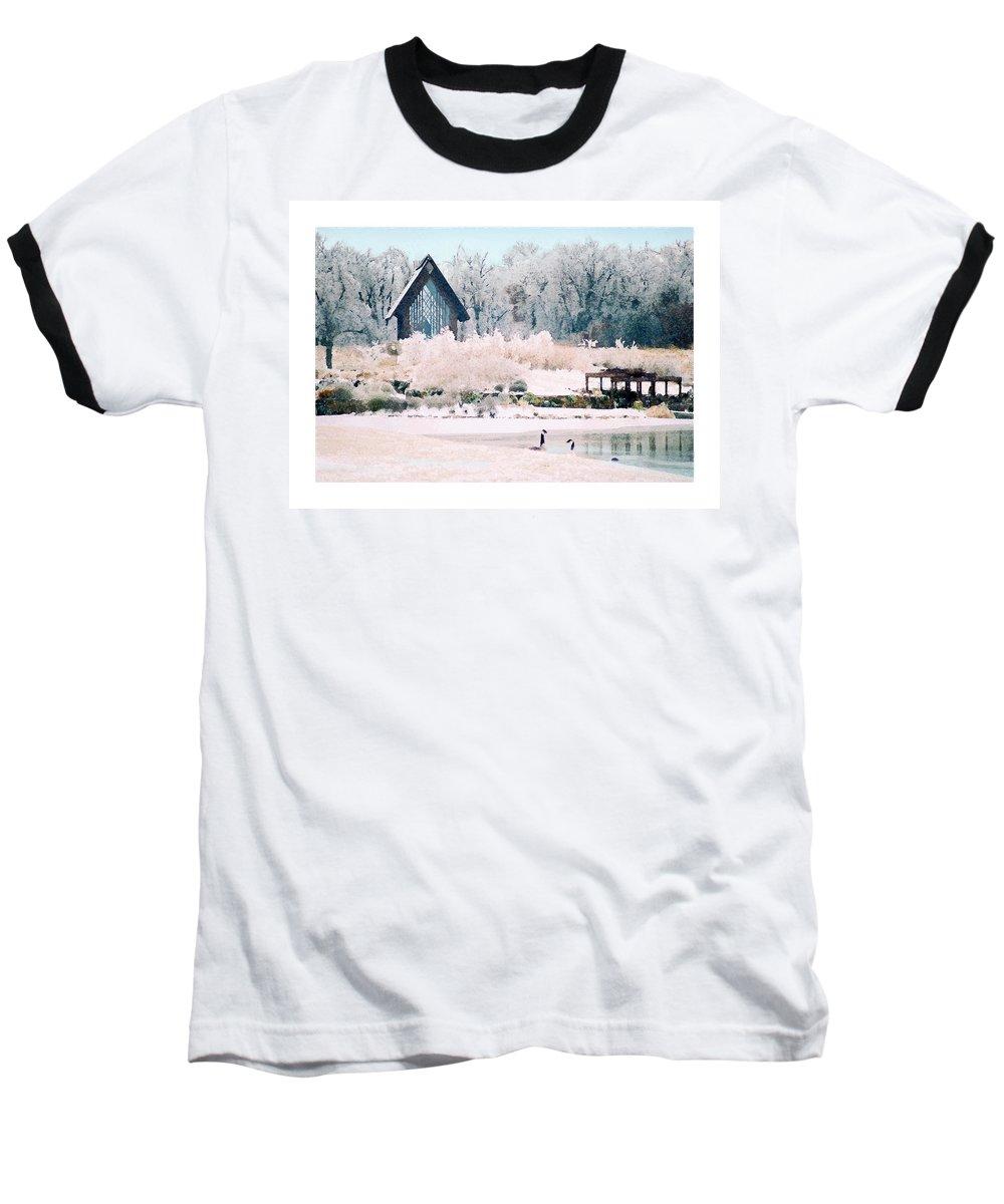 Landscape Baseball T-Shirt featuring the photograph Powell Gardens Chapel by Steve Karol