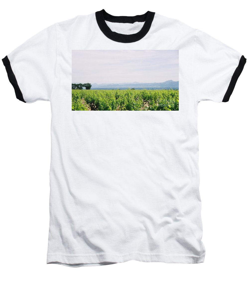 France Baseball T-Shirt featuring the photograph Provence Spring Vineyard by Nadine Rippelmeyer