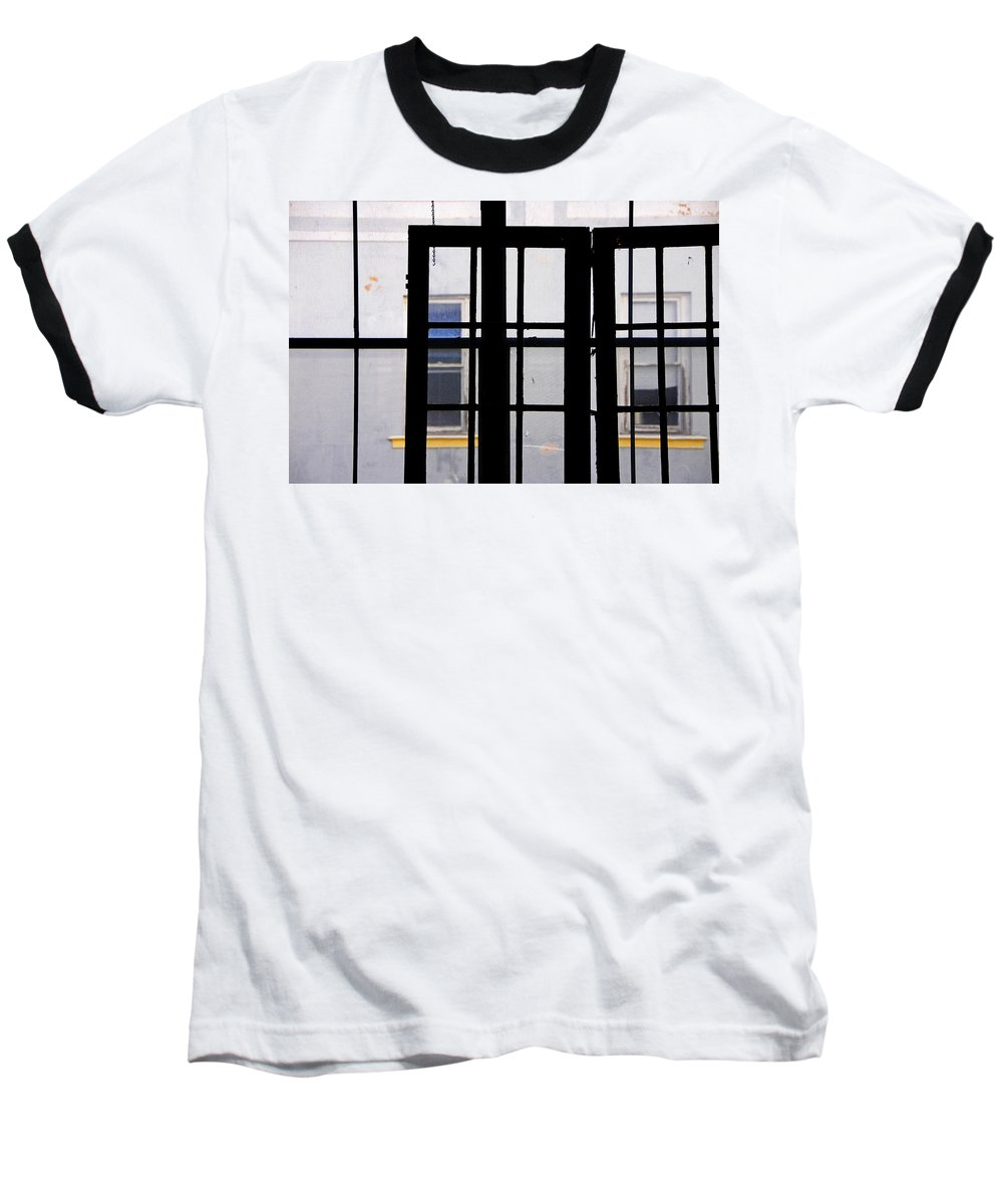 Skip Hunt Baseball T-Shirt featuring the photograph Rear Window 1 by Skip Hunt
