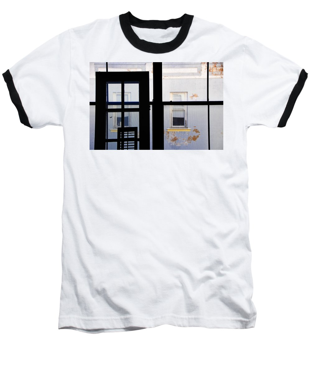 Architecture Baseball T-Shirt featuring the photograph Rear Window 3 by Skip Hunt