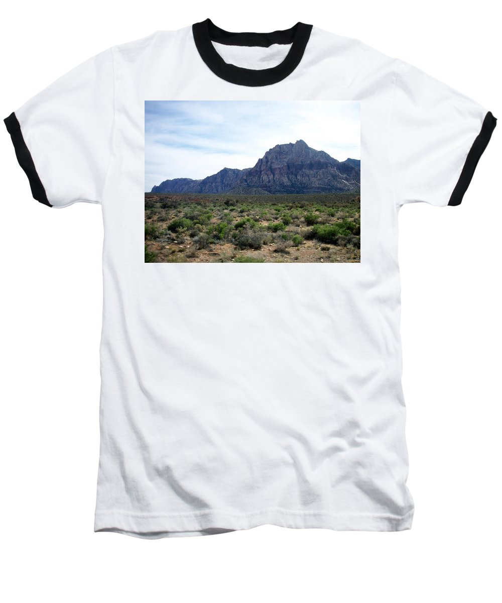 Red Rock Canyon Baseball T-Shirt featuring the photograph Red Rock Canyon 3 by Anita Burgermeister