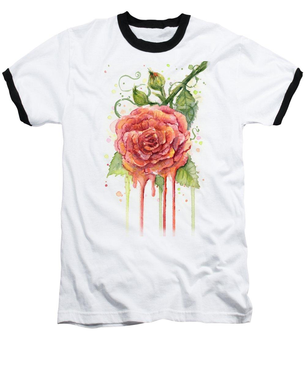 Floral Baseball T-Shirts
