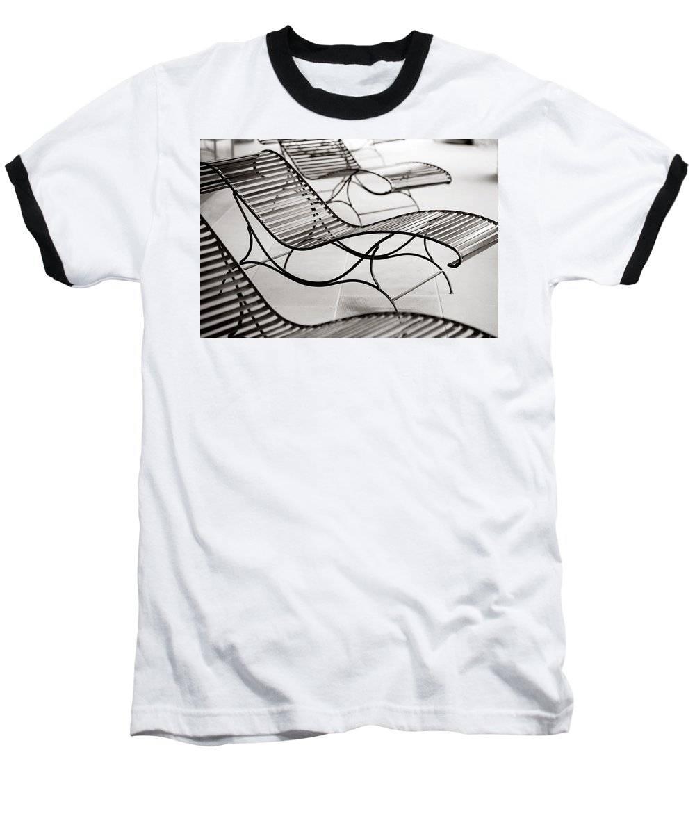 Chair Baseball T-Shirt featuring the photograph Relaxation by Marilyn Hunt