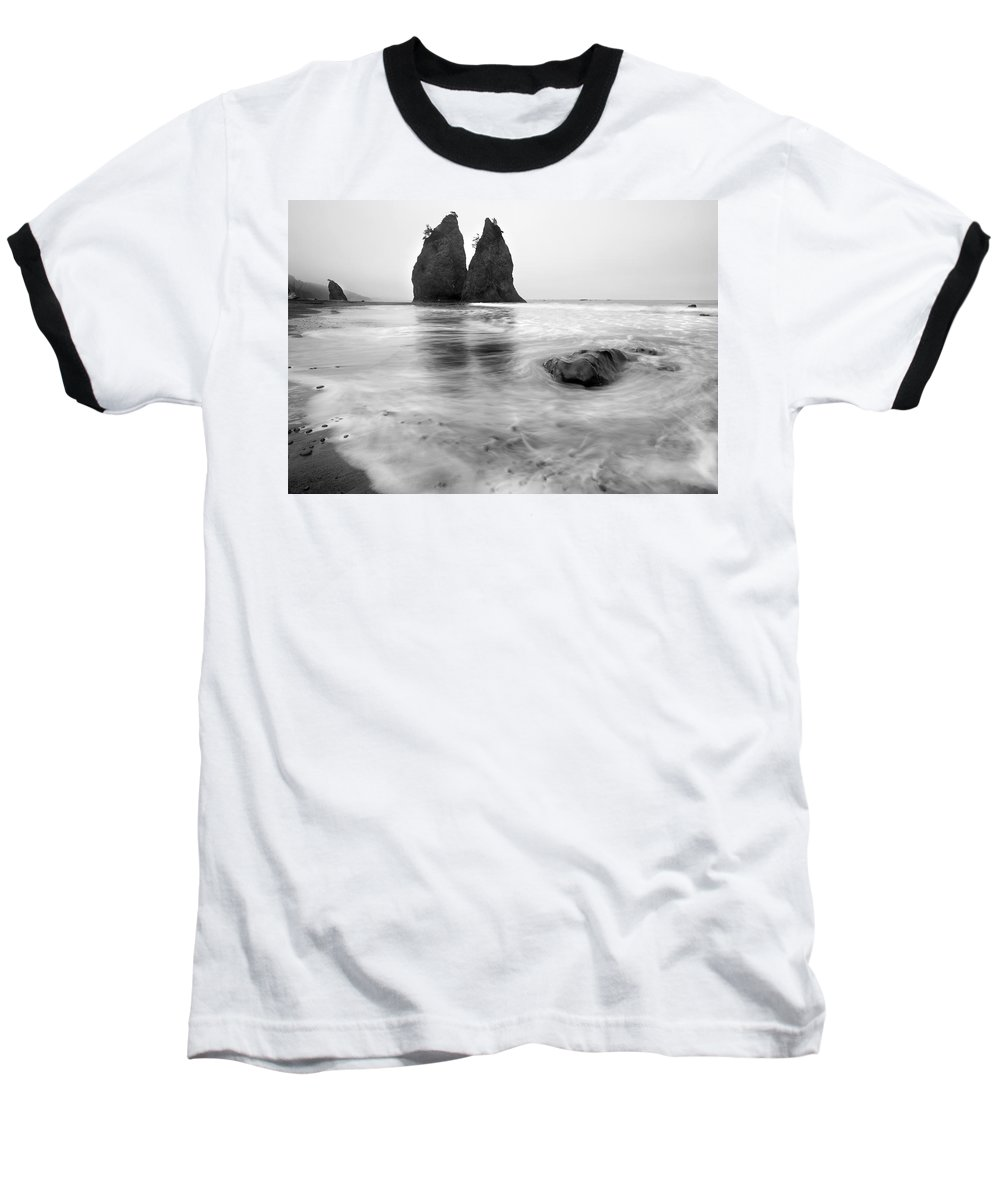 Beach Baseball T-Shirt featuring the photograph Rialto Reflections by Mike Dawson