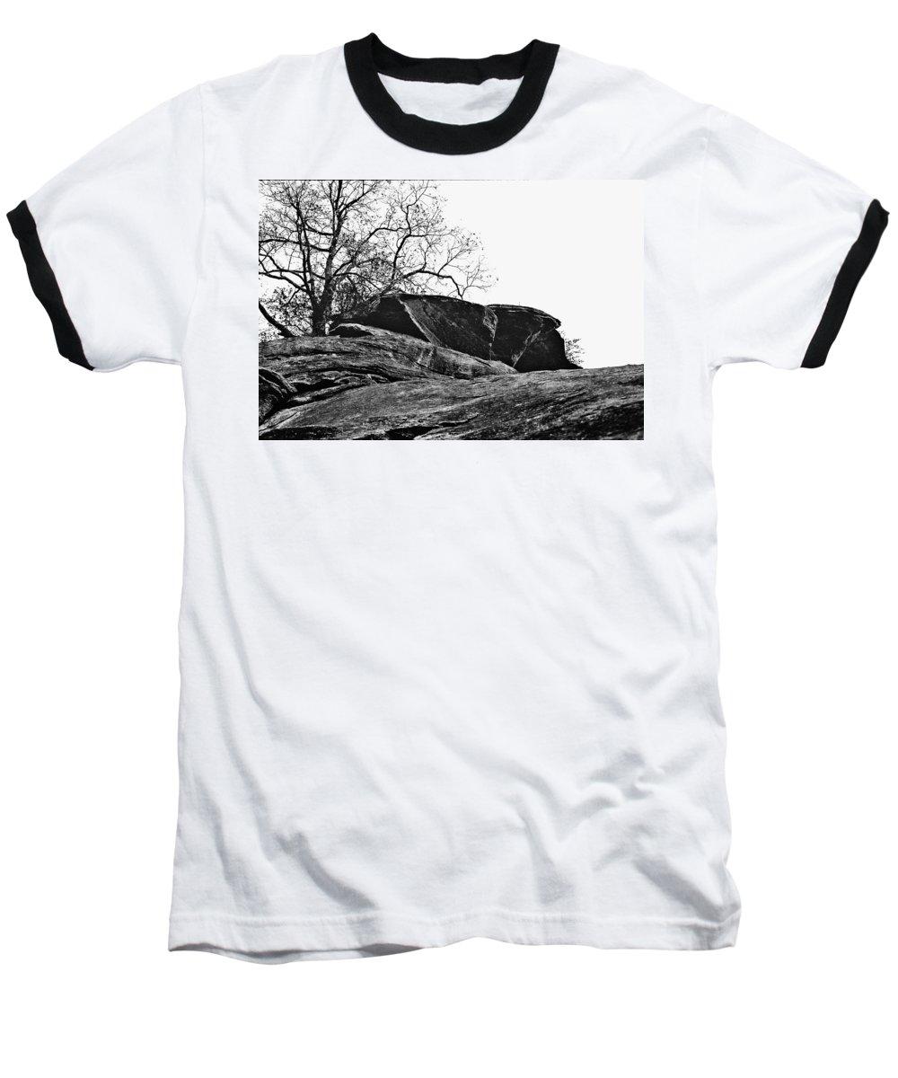 Landscape Baseball T-Shirt featuring the photograph Rock Wave by Steve Karol