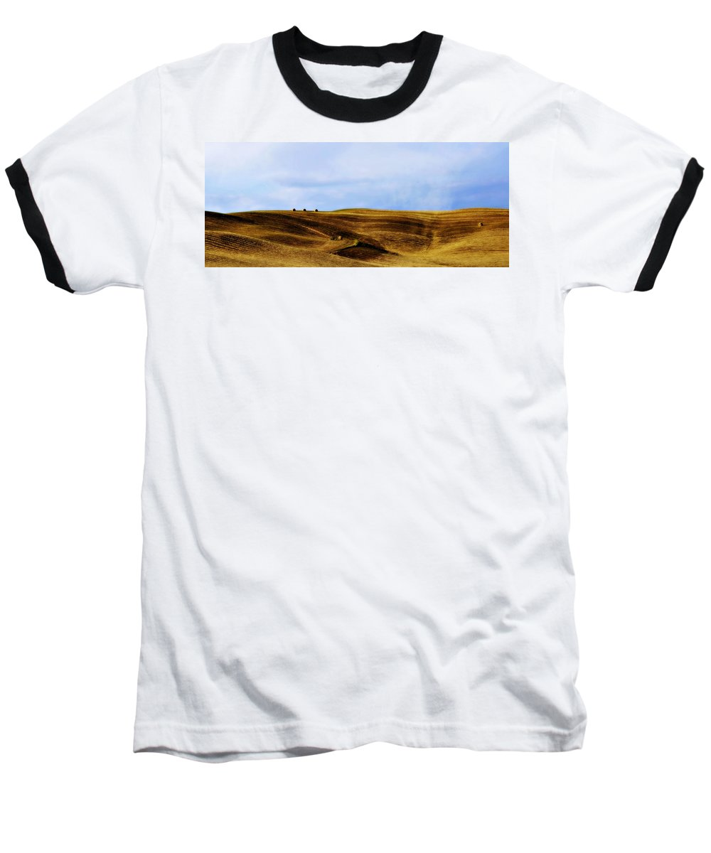 Italy Baseball T-Shirt featuring the photograph Rolling Hills Of Hay by Marilyn Hunt