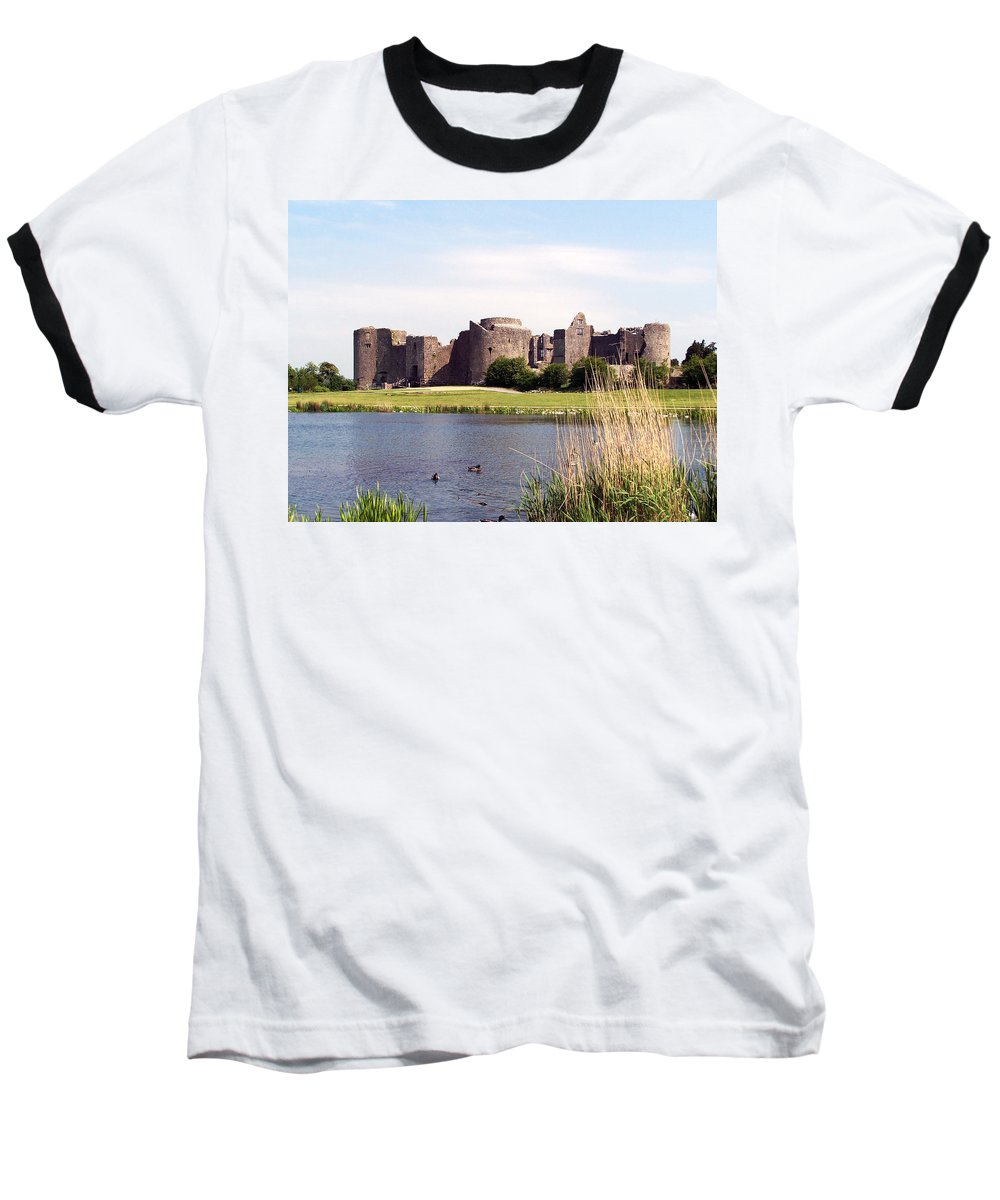 Roscommon Baseball T-Shirt featuring the photograph Roscommon Castle Ireland by Teresa Mucha