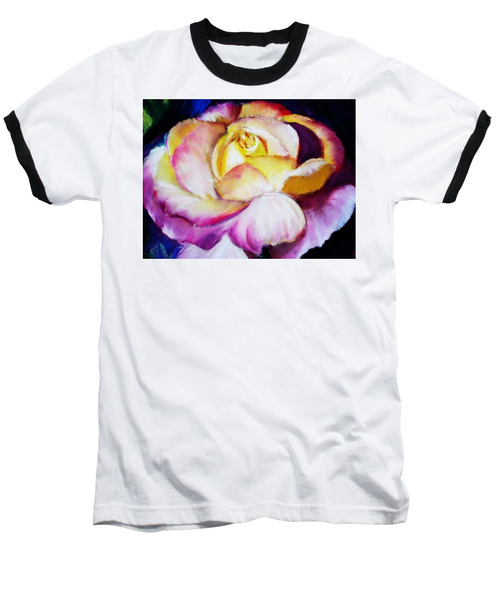 Rose Baseball T-Shirt featuring the print Rose by Melinda Etzold