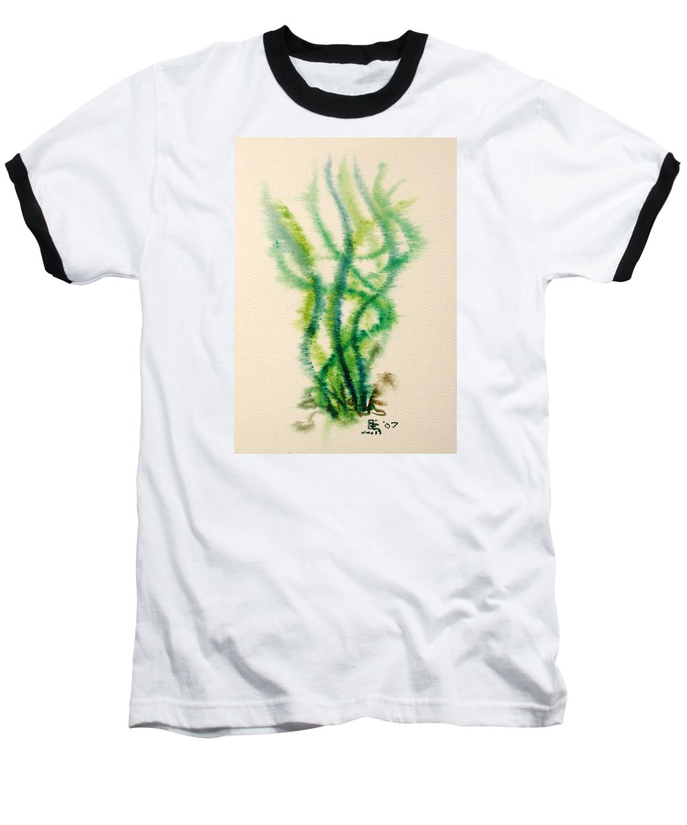 Sea Baseball T-Shirt featuring the painting Sea Bed One by Dave Martsolf
