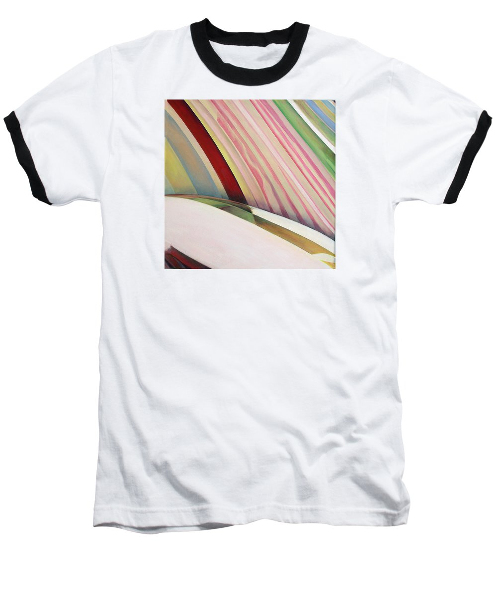Abstract Baseball T-Shirt featuring the painting Sens 1 by Muriel Dolemieux