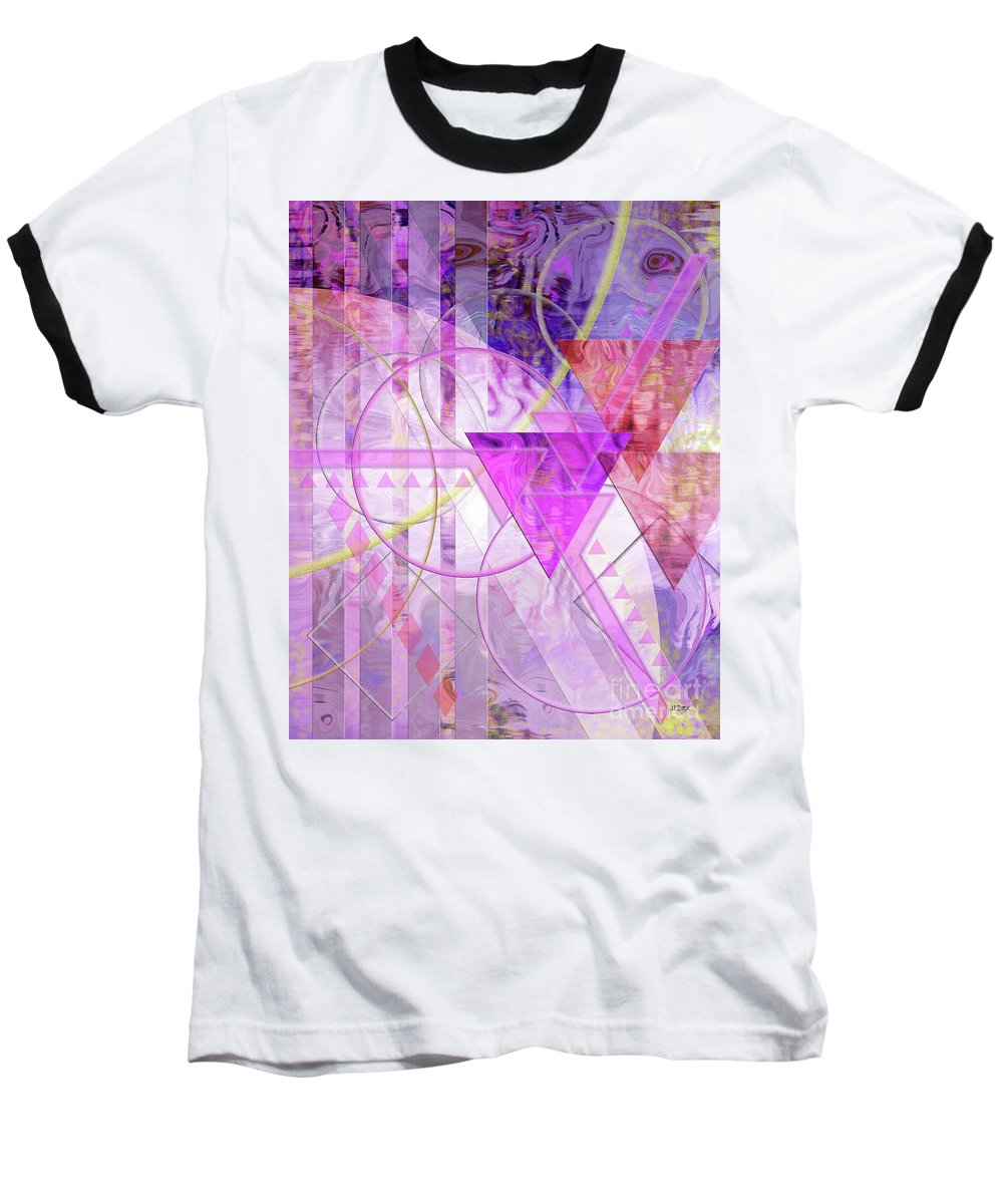 Shibumi Baseball T-Shirt featuring the digital art Shibumi Spirit by John Beck