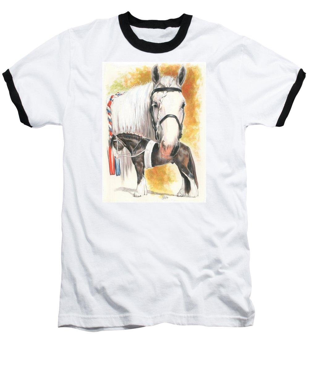 Shire Baseball T-Shirt featuring the mixed media Shire by Barbara Keith